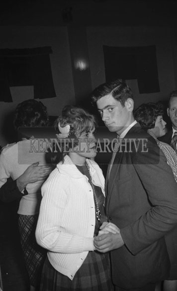 25th November 1962; People enjoying the night at a dance which took place in Brosna.