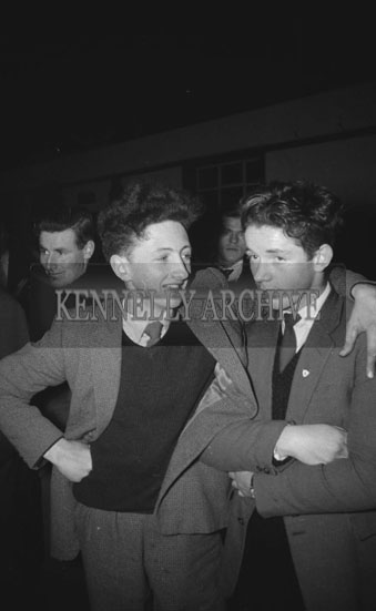 February 1962; People enjoying themselves at a dance which took place in Abbeydorney.