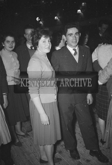 25th February 1962; People enjoying themselves at the Tralee Cycle Club Dance which took place in Ballymacelligott.