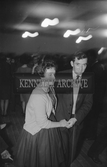 29th November 1962; People enjoying the night at the Ardfert Social which took place in Ardfert. Music at the dance was provided by Mick Delahunty and his band.