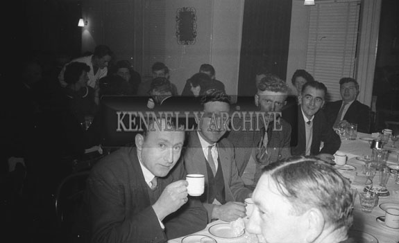 February1962; People enjoying the night at a social which took place in Ballyduff.