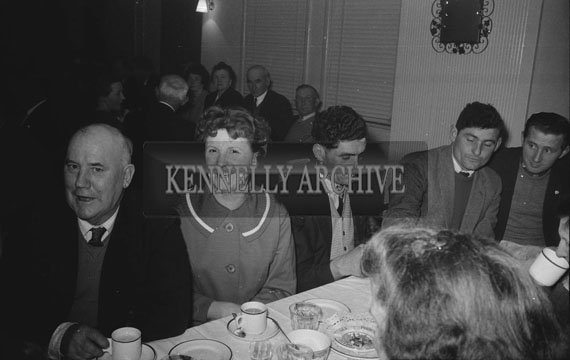 February 1962; People enjoying the night at a social which took place in Ballyduff.