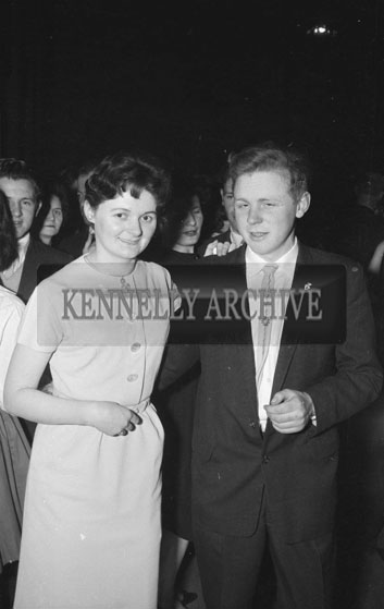 6th March 1962; People enjoying the night at the Shrove Tuesday Dance which was held at the CYMS in Tralee. The music at the dance was provided by Mick Delahunty and Jimmy Wiley.