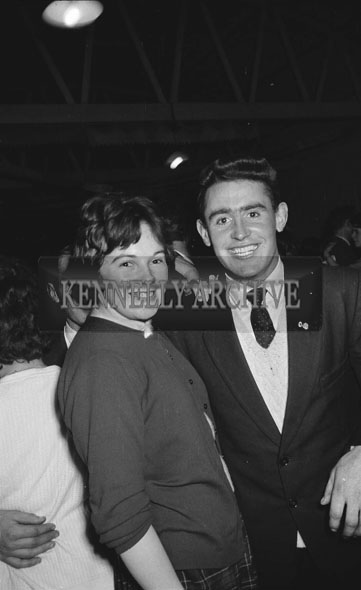 5th December 1962; People enjoying the night at a dance which took place in Lixnaw with music provided by Denis Cronin and his Orchestra.
