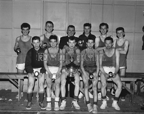 11th March 1962; Members of the FCA team who defeated the ESB Basketball Team 38-13 in the Munster Blitz Title Final at the CYMS in Tralee.