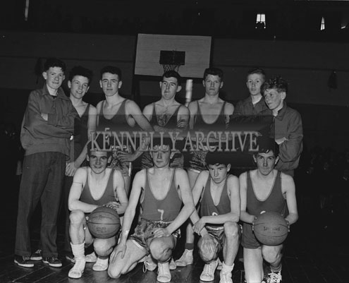 18th March 1962; Members of the a team pose for the camera at the Tralee Town Basketball League Final.