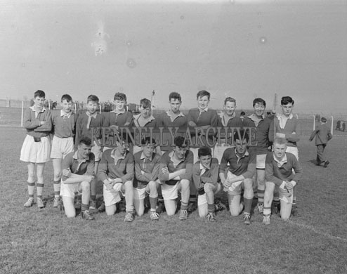 18th March 1962; Members of the St. Patrick's Castleisland team who defeated Caherciveen in the Kerry Colleges Junior Football Cup (Dunloe Cup).