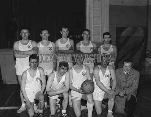 18th March 1962; Members of the ESB team taken at the Tralee Town Basketball League Final where the Rebels defeated the ESB team 40 points to 39 points.