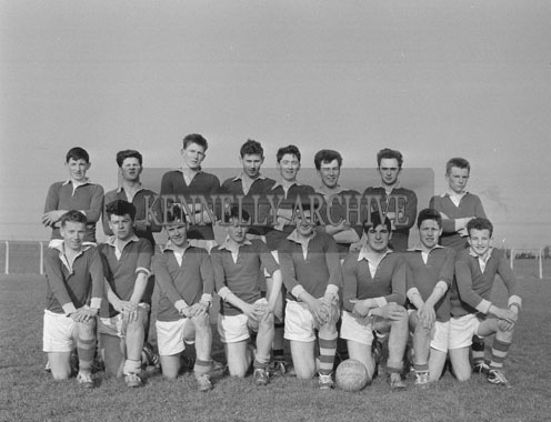 18th March 1962; Members of the St Brendan's Football Team who defeated Tralee CBS in the final of the O'Sullivan Cup.