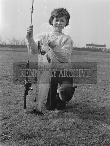 18th March 1962; Miss Eileen Moriarty from Greenview in Tralee caught her first fish, a ten pound Salmon in Finuge.