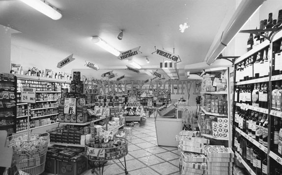 March 1962; A photo taken in Clifford's supermarket which was the first supermarket in Kerry.