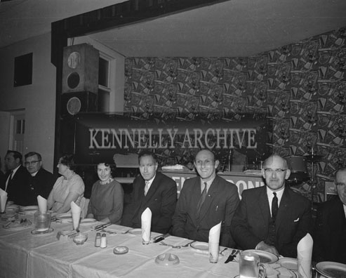 28th November 1962; Gerry Moyles (centre) enjoying the night at the National Farmers Association Social which took place at the Hotel Manhattan.