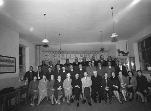 November 1962; Members of the Abbeyfeale Glor na nGael Committee pose for the camera at the Abbeyfeale Technical School.