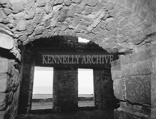 November 1962; A photo taken of the ruins in Ballyheigue Castle.