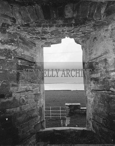 November 1962; A photo taken of the ruins in Ballyheigue Castle.