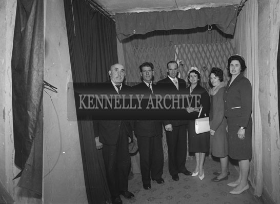 December 1962; A Wedding Party pose for the camera at the studio in Tralee.
