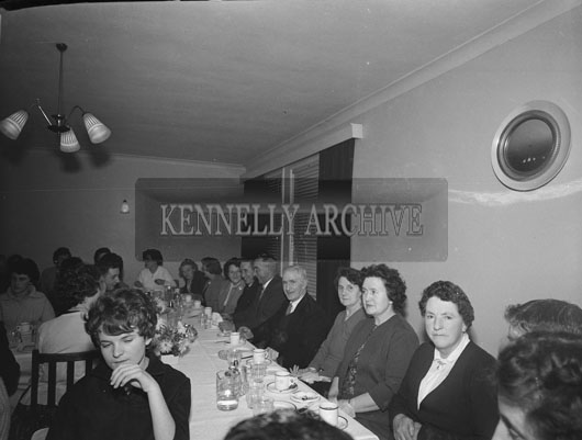 1st December 1962; People enjoying the night at the Kevin Barry Social which took place at the Meadowlands Hotel.