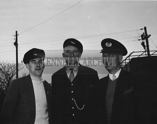 December 1962; A group of CIE members pose for the camera in Tralee.