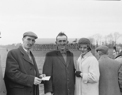 December 1962; A photo taken at a coursing meeting which took place at an unknown location.