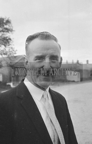 June 1962; Mr Collins who is one of the organisers of the Kingdom County Fair poses for the camera in Tralee.