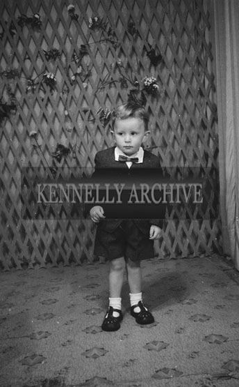 June 1962; A photo of a boy taken at the studio in Tralee.