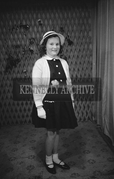 June 1962; A photo of a girl taken at the studio in Tralee.