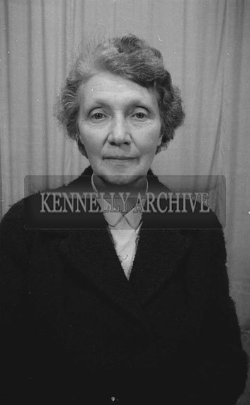 June 1962; A photo of a woman taken at the studio in Tralee.