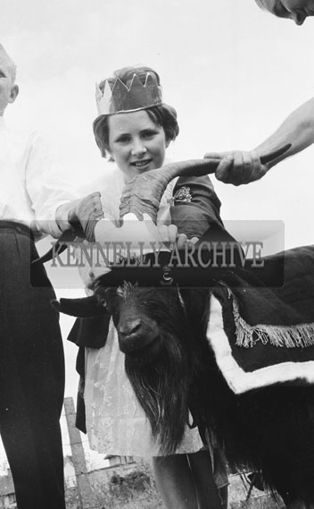 August 1962; The Queen of Puck crowns the Puck Goat in Killorglin