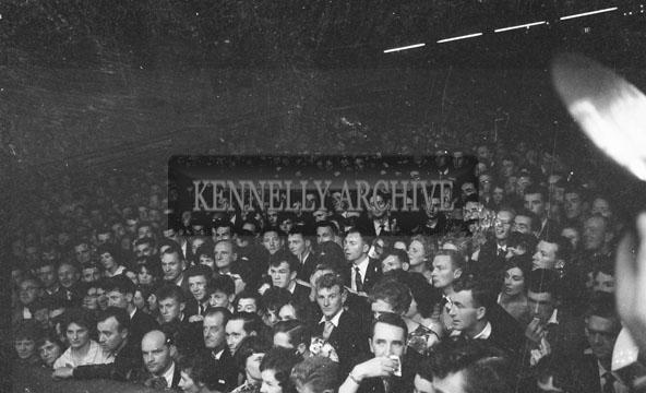 3rd September 1962; A crowd photo taken at the Rose Of Tralee selection night which was held at the Ashe Memorial Hall in Tralee. The Dublin Rose was crowned the winner.