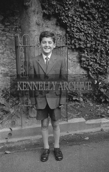 September 1962; A photo of a child taken on Confirmation Day in Ballymacelligott.