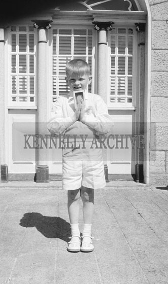 September 1962; A photo taken on Communion Day in Castleisland.
