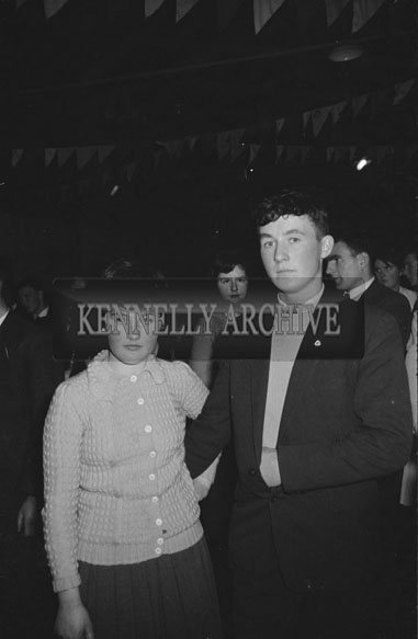 9th December 1962; People enjoying the night at a dance which took place in Scartaglin.