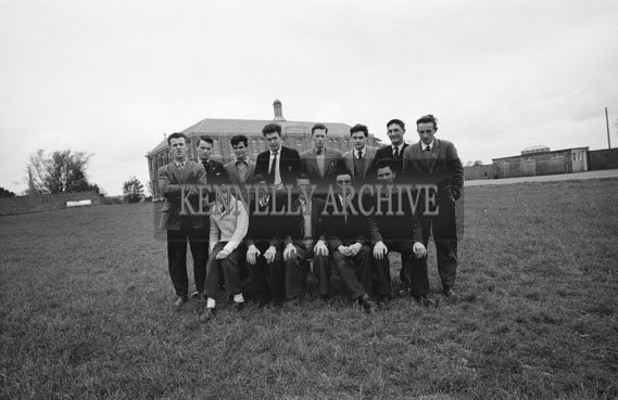 May 1962; Students from the CBS The Green pose for the camera in front of the school in Tralee.