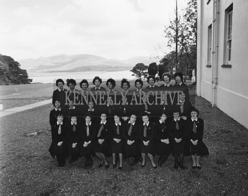 29th May 1962; Members of the Coláiste Ide Senior Choir who broadcast a programme of part songs from Radio Eireann.