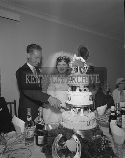 September 1962; A photo taken at the Curran/Collins Wedding which took place in Camp Church and was followed by the reception in the Meadowlands Hotel.