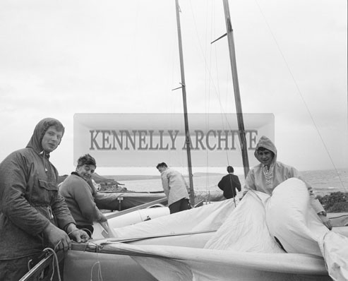 16th June 1962; A photo taken during the 505 Boat Race which took place in Fenit. The winner of the Race was Clayton Love from Cork.