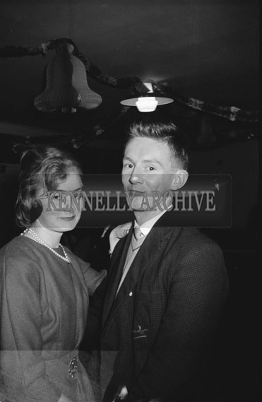 13th December 1962; People enjoying the night at the Tralee Knitwear Factory Dance which took place at the Meadowlands Hotel.