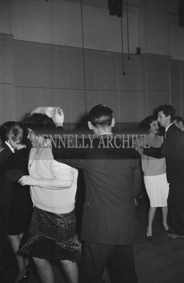 14th December 1962; People enjoying the night at a dance which was held the the CYMS Hall in Tralee.