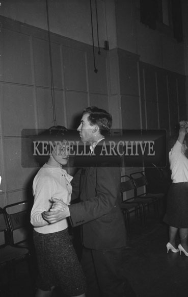 14th December 1962; People enjoying the night at a dance which was held the the C.Y.M.S. Hall in Tralee.