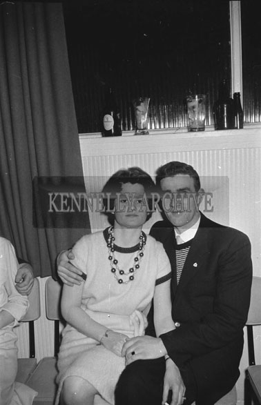 15th December 1962; Dominic and Anna Moriarty enjoying the night at the CIE Social which took place at the Hotel Manhattan.