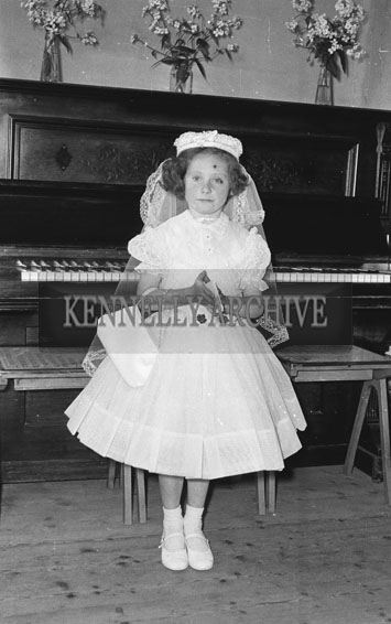 September 1962; A Communion photo of a child taken at an unknown location.
