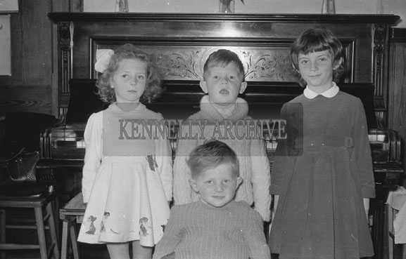September 1962; A photo of a group of children taken at an unknown location.