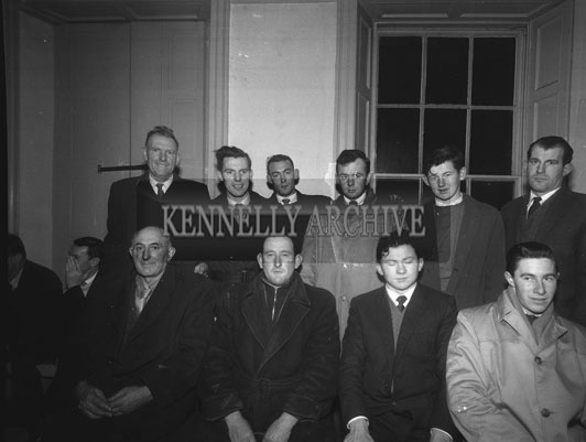 December 1962; Representatives of the different sections of farming life in Kerry attended the meeting of the North Kerry Food Processing Co-Op Society at the Chamber of Commerce Rooms. At the meeting they were formed into the Tralee Food Processing Committee.