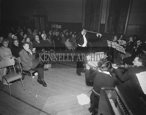 December 1962; A photo taken of members of the Tralee Orchestra at an unknown location.