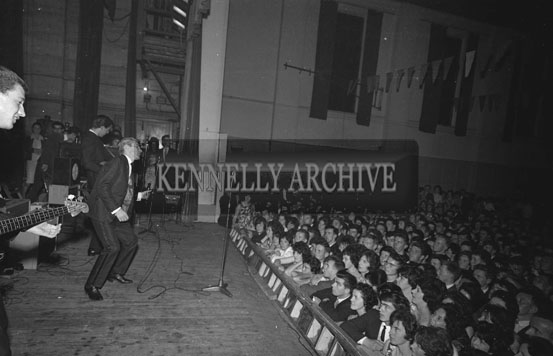 23rd July 1962; Singer Adam Faith performing a concert at the CYMS Hall in Tralee.