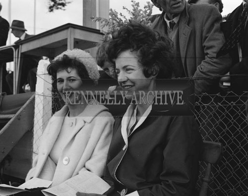 21st June 1962; A photo of two women taken during the Showjumping events which took place at the Kingdom County Fair at Ballymullen Barracks.