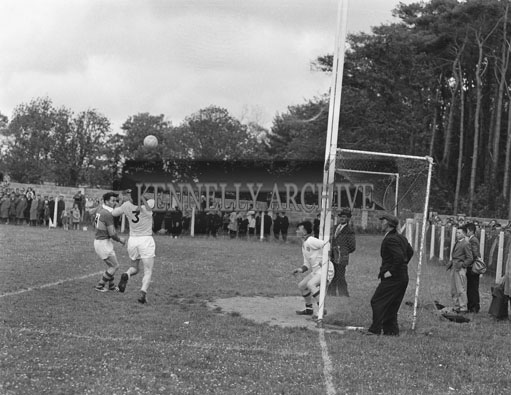 24th June 1962; An action photo taken during the Senior Munster Semi-Final between Kerry and Waterford which took place at the Sportsfield in Listowel. The Kingdom defeated Waterford 2-18 to 2-6.