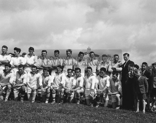 24th June 1962; Members of the Waterford Team pose for the camera before the Senior Munster Semi-Final between Kerry and Waterford which took place at the Sportsfield in Listowel. The Kingdom defeated Waterford 2-18 to 2-6.