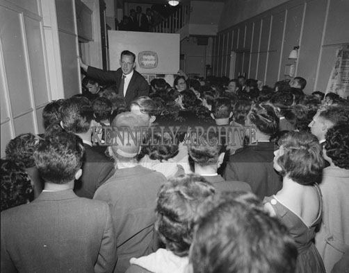 23rd July 1962; A photo taken before an Adam Faith concert at the CYMS Hall in Tralee.
