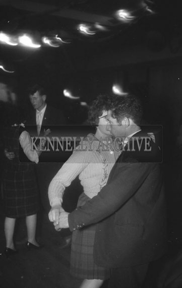 19th December 1962; People enjoying the night at a dance which took place in Ballyheigue.